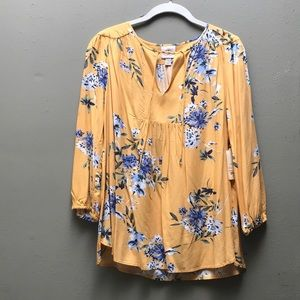 *BRAND NEW - St. John's Bay - Amber Sun Floral Top